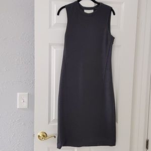 Charcoal grey Theory dress.